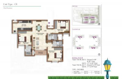 Gallery Cover Image of 1431 Sq.ft 3 BHK Apartment for buy in Prestige Finsbury Park Regent, Gummanahalli for 7200000