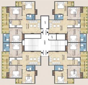 Gallery Cover Image of 500 Sq.ft 1 BHK Apartment for buy in Adore Happy Homes Pride, Sector 75 for 1294000