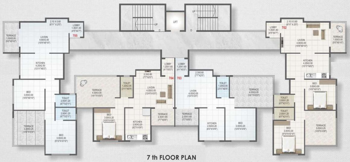 Project Image of 476.73 - 595.78 Sq.ft 1 BHK Apartment for buy in Roongta Township Phase IV Apartment