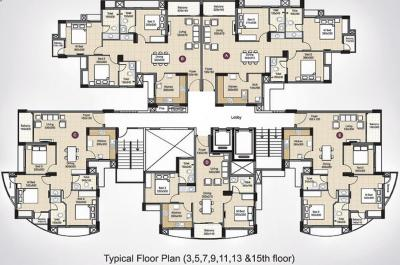 Project Image of 1020 - 1581 Sq.ft 2 BHK Apartment for buy in Skyline Crescendo