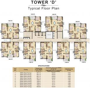 Gallery Cover Image of 1195 Sq.ft 2 BHK Apartment for buy in K Raheja Vistas Tower D To F, Nacharam for 6600000