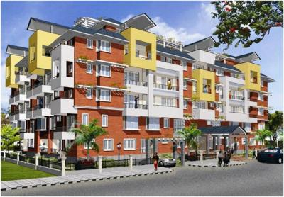 Gallery Cover Image of 1381 Sq.ft 2 BHK Apartment for buy in E Spring Seasons, Sanjaynagar for 10900000