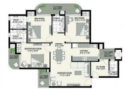 Project Image of 1310.0 - 1770.0 Sq.ft 2.5 BHK Apartment for buy in Urbtech Hilston