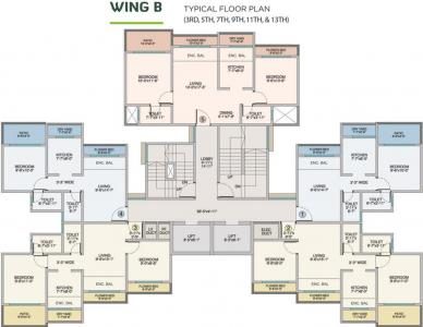 Project Image of 217.43 - 762.51 Sq.ft 1 BHK Apartment for buy in Poonam Park View Phase I
