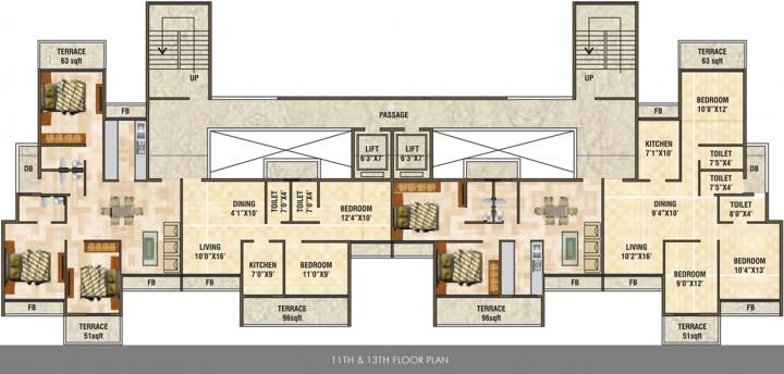Project Image of 538.0 - 676.0 Sq.ft 2 BHK Apartment for buy in Satyam Mayfair