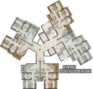 Project Image of 422.0 - 627.0 Sq.ft 1 BHK Apartment for buy in Lakhani Orchid Woods