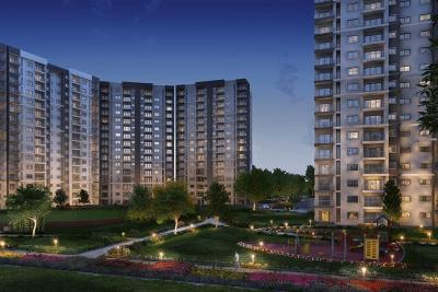 Gallery Cover Image of 1740 Sq.ft 2 BHK Apartment for buy in L And T Raintree Boulevard, Sahakara Nagar for 14400000