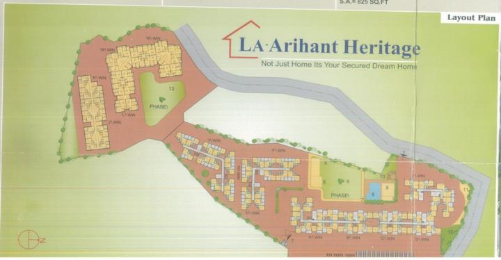 Project Image of 188.48 - 476.3 Sq.ft 1 RK Apartment for buy in La Arihant Heritage