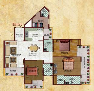Project Image of 380 - 1880 Sq.ft 1 BHK Apartment for buy in Earthcon Casa Grande 2
