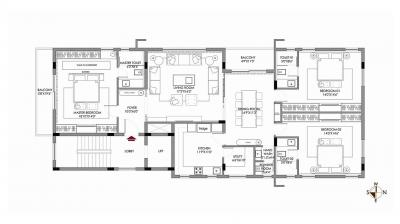 Project Image of 0 - 2315.0 Sq.ft 3 BHK Apartment for buy in NXG Spinel