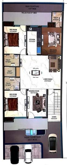 Project Image of 0 - 2250 Sq.ft 4 BHK Apartment for buy in Hare Krishna Developer Krishna Home 3
