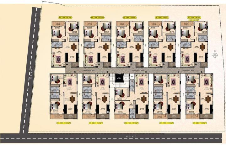 Project Image of 1100.0 - 1200.0 Sq.ft 2 BHK Apartment for buy in AR Tulips