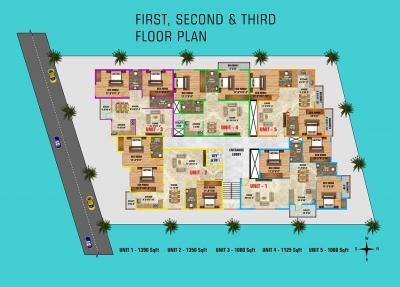 Project Image of 1015.0 - 1350.0 Sq.ft 2 BHK Apartment for buy in S L V Ideal Nest