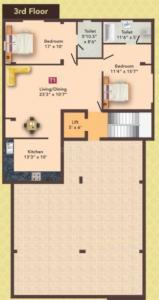 एमएस एमएम मेट्रो में खरीदने के लिए 0 - 795.0 Sq.ft 2 BHK अपार्टमेंट प्रोजेक्ट  की तस्वीर