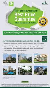 Gallery Cover Image of 720 Sq.ft 1 BHK Apartment for buy in Vatika Lifestyle Homes, Sector 83 for 5000000