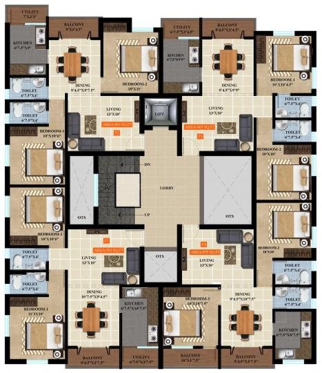 Project Image of 525.0 - 905.0 Sq.ft 1 BHK Apartment for buy in Deva Shrijith Kanmani