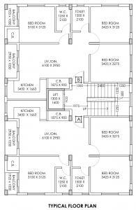 डेनिश गोविंद को ऑपरेटिव हाउसिंग सोसाइटी में खरीदने के लिए 0 - 1268.0 Sq.ft 3 BHK अपार्टमेंट प्रोजेक्ट  की तस्वीर