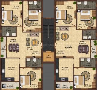 इंडिया बिल्डर्स  थंगमएस में खरीदने के लिए 0 - 1503.0 Sq.ft 3 BHK अपार्टमेंट प्रोजेक्ट  की तस्वीर