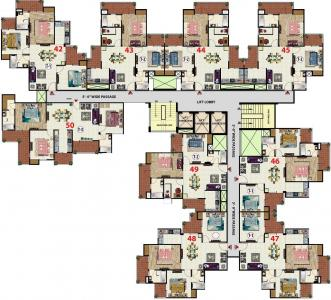 Project Image of 905.0 - 2095.0 Sq.ft 2 BHK Apartment for buy in Galaxy North Avenue 1