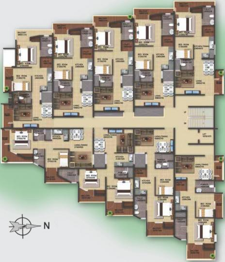Project Image of 690 - 970 Sq.ft 2 BHK Apartment for buy in Preeti Proximity