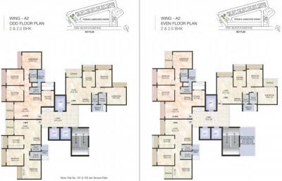 Gallery Cover Image of 1650 Sq.ft 3 BHK Apartment for buy in Akshar Green World, Dighe for 17500000