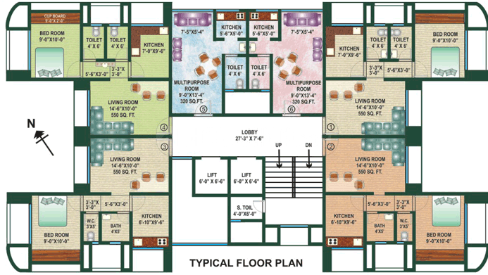 Project Image of 256.83 - 435.72 Sq.ft 1 BHK Apartment for buy in Jakhubhai Lalji Empire Gold