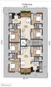 नवटोज आसविनी गार्डन में खरीदने के लिए 0 - 1209.0 Sq.ft 3 BHK अपार्टमेंट प्रोजेक्ट  की तस्वीर