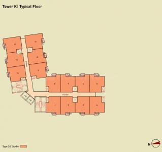 Gallery Cover Image of 910 Sq.ft 3 BHK Apartment for buy in Eden Solaris City Serampore, Serampore for 2465500