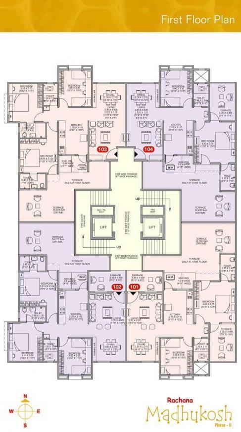 Project Image of 703.74 - 810.74 Sq.ft 2 BHK Apartment for buy in Rachana Rachana Madhukosh Wing C