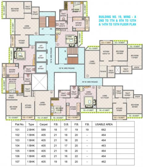 Project Image of 391.0 - 592.0 Sq.ft 1 BHK Apartment for buy in SR Anand Kirti Tower