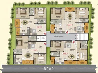 एसवीपी श्री साई बृंदावन में खरीदने के लिए 1100.0 - 1125.0 Sq.ft 2 BHK अपार्टमेंट प्रोजेक्ट  की तस्वीर