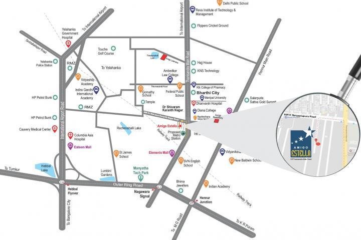 hegde nagar bangalore map 1235 Sqft 2 Bhk Apartment For Sale In Amigo Estella R K Hegde hegde nagar bangalore map