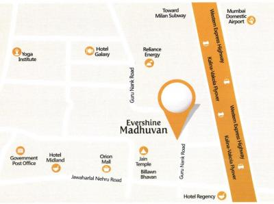 Gallery Cover Image of 1825 Sq.ft 4 BHK Apartment for buy in Evershine Madhuvan, Santacruz East for 51600000