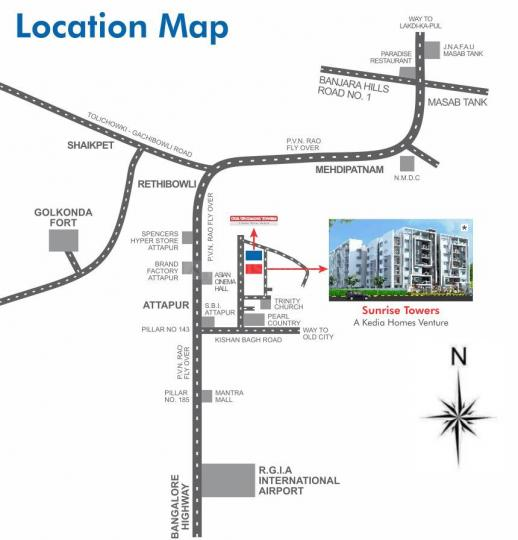 Project Image of 1033.4 - 2713.0 Sq.ft 2 BHK Apartment for buy in Sunrise Towers