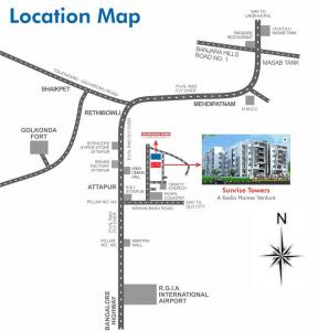 Project Image of 1033.4 - 2713 Sq.ft 2 BHK Apartment for buy in Sunrise Towers