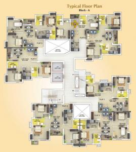 Gallery Cover Image of 1035 Sq.ft 3 BHK Apartment for buy in Signum Parkwoods Estate, Mankundu for 3155175
