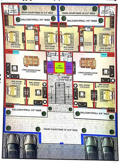 Project Image of 0 - 2250 Sq.ft 4 BHK Apartment for buy in Hare Krishna Developer Krishna Home 6