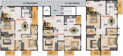 Gallery Cover Image of 1215 Sq.ft 2 BHK Apartment for buy in Jayani Paradise, Mahadevapura for 8324000