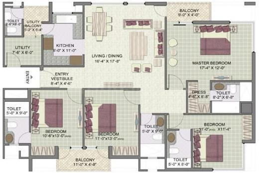 Project Image of 575 - 2250 Sq.ft 1 BHK Apartment for buy in Jaypee Kensington Boulevard