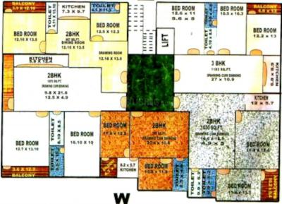 Project Image of 1011.0 - 1400.0 Sq.ft 2 BHK Apartment for buy in HTN Om Plaza