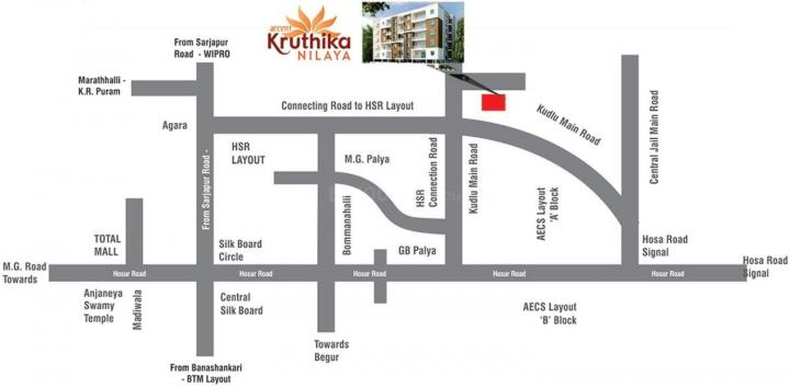 Project Image of 720.0 - 1250.0 Sq.ft 1 BHK Apartment for buy in Accent Kruthika Nilaya
