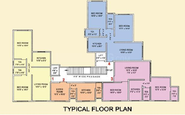 Project Image of 372 - 949 Sq.ft 1 BHK Apartment for buy in Rizvi Link Apartment