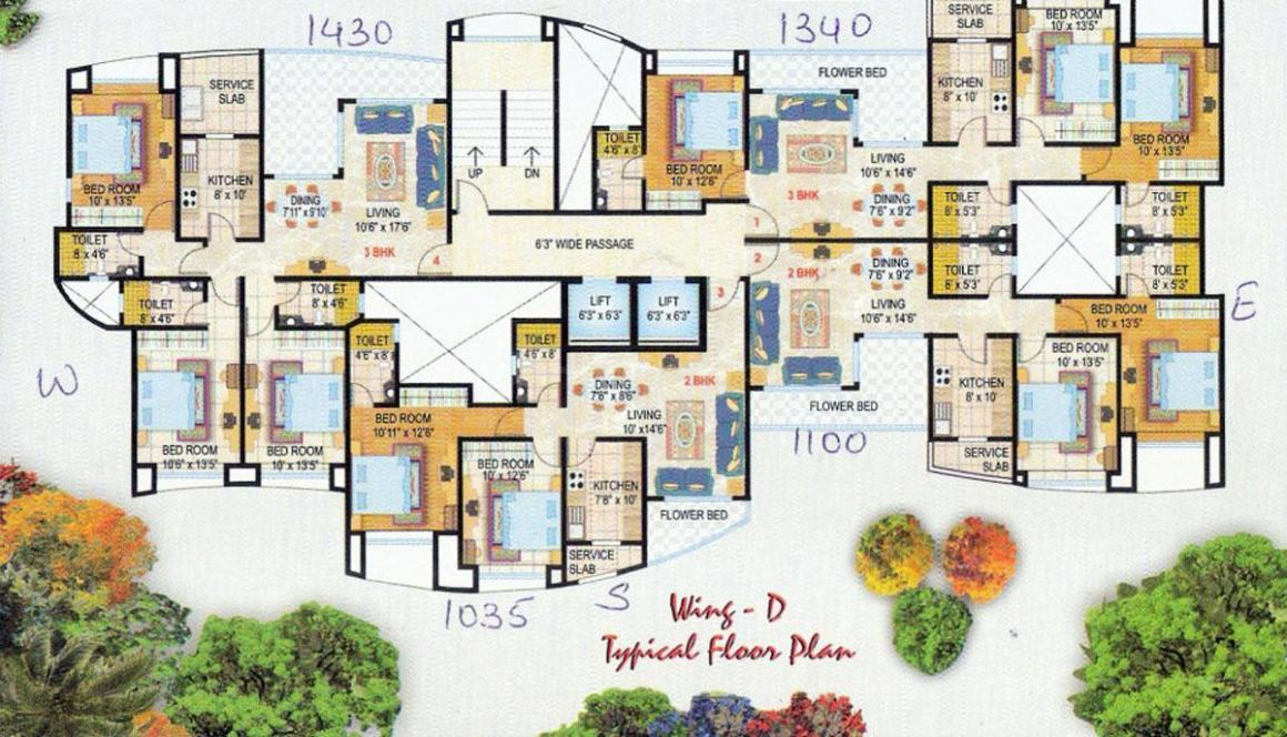 Project Image of 1035.0 - 1430.0 Sq.ft 2 BHK Apartment for buy in Srishti Synchronicity