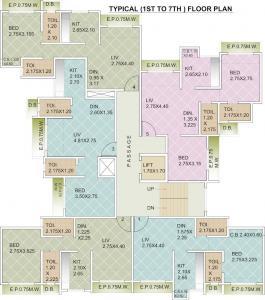 जेवीएम स्पेस फ्लोरेंकिया में खरीदने के लिए 366.0 - 489.0 Sq.ft 1 BHK अपार्टमेंट प्रोजेक्ट  की तस्वीर