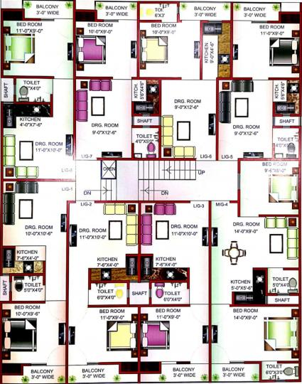 Project Image of 400.0 - 1100.0 Sq.ft 1 BHK Apartment for buy in Unnati DLF Dream Home