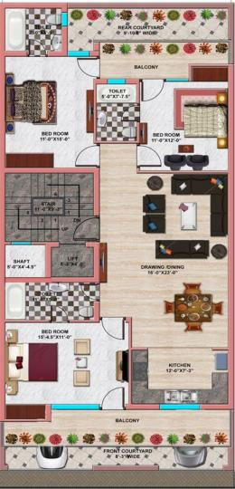 Project Image of 1800.0 - 3200.0 Sq.ft 3 BHK Apartment for buy in Om Vip Floors