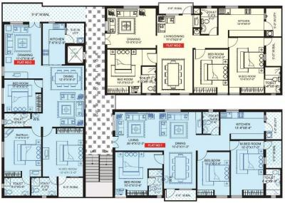 Gallery Cover Image of 1775 Sq.ft 3 BHK Apartment for rent in Gauthami Pavana Residency, Serilingampally for 18000
