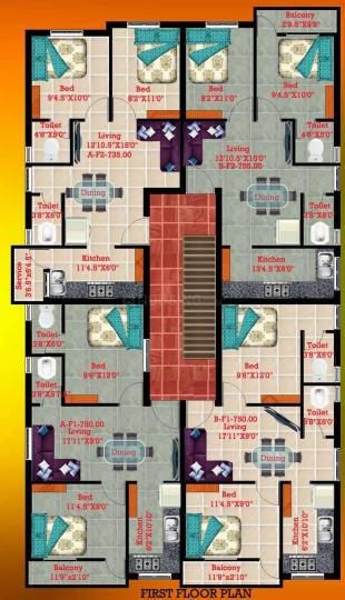 Project Image of 710.0 - 880.0 Sq.ft 2 BHK Apartment for buy in Bharathi Sai Park