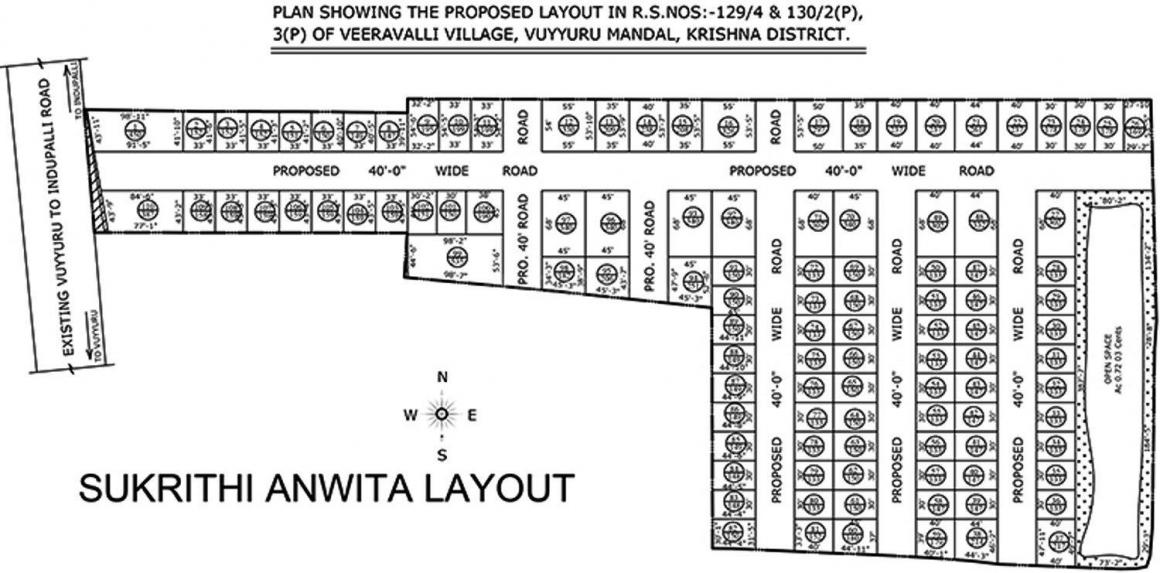 Project Image of 1800.0 - 3600.0 Sq.ft Residential Plot Plot for buy in Subhagruha Sukrithi Anwita