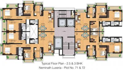 Project Image of 1125.0 - 1250.0 Sq.ft 2 BHK Apartment for buy in Neminath Luxeria